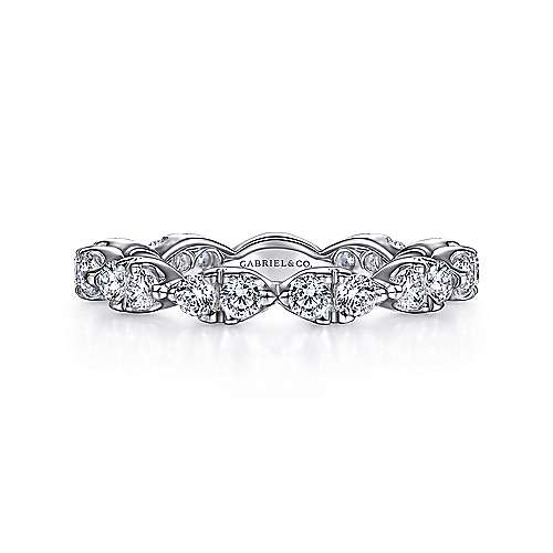 Gabriel - 14k White Gold Marquis Shape Eternity Band