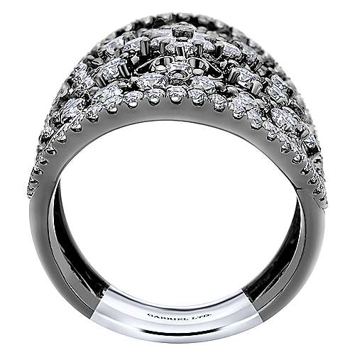 14k White Gold Mediterranean Fashion Ladies' Ring angle 2