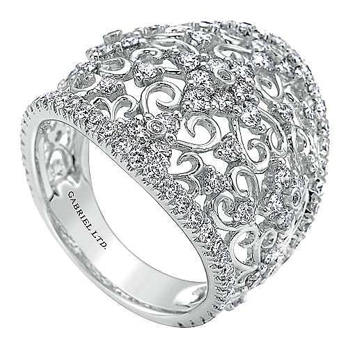 14k White Gold Mediterranean Fashion Ladies' Ring angle 3