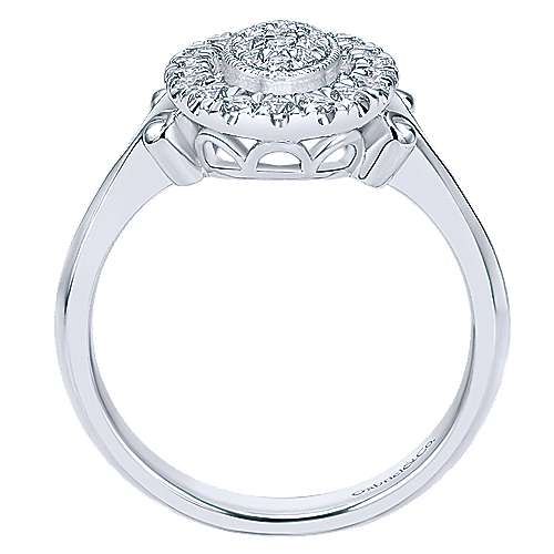 14k White Gold Messier Classic Ladies' Ring angle 2