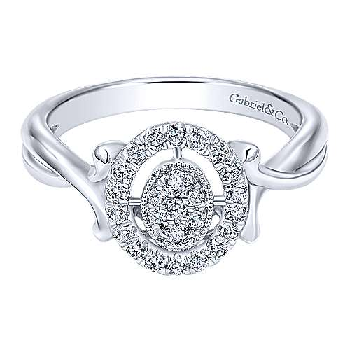 Gabriel - 14k White Gold Messier Fashion Ladies' Ring