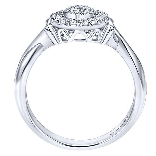 14k White Gold Messier Fashion Ladies' Ring angle 2