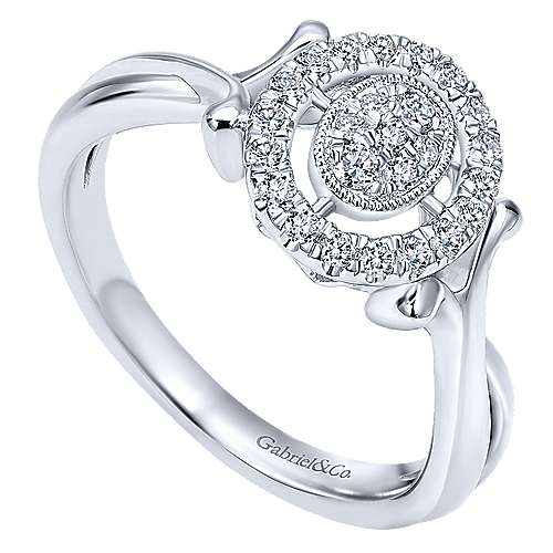 14k White Gold Messier Fashion Ladies' Ring angle 3