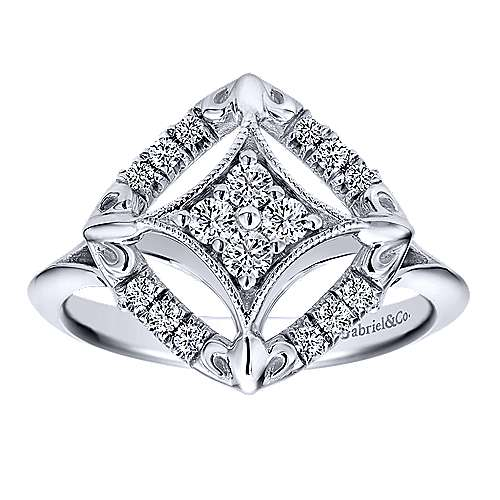 14k White Gold Messier Fashion Ladies' Ring angle 4