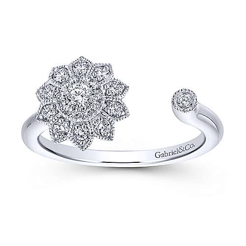 14k White Gold Messier Fashion Ladies' Ring angle 4