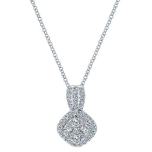 14k White Gold Messier Fashion Necklace