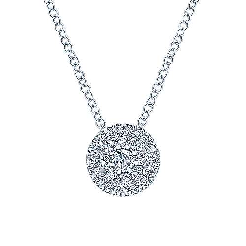 14k White Gold Messier Fashion Necklace angle 1