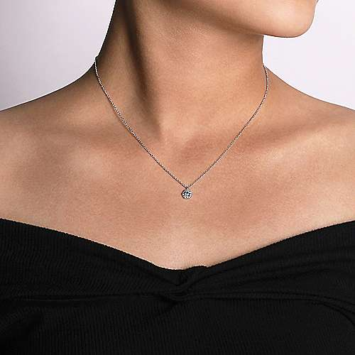 14k White Gold Messier Fashion Necklace angle 3