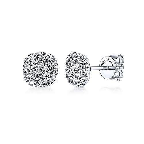 Gabriel - 14k White Gold Messier Stud Earrings