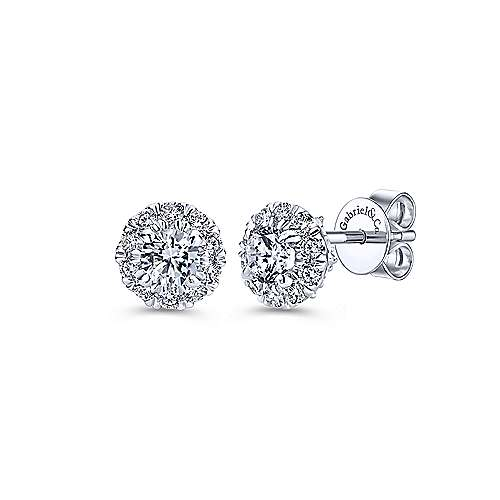 14k White Gold Messier Stud Earrings