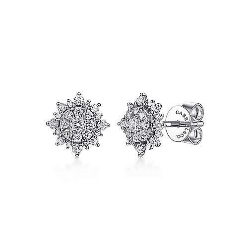 14k White Gold Messier Stud Earrings