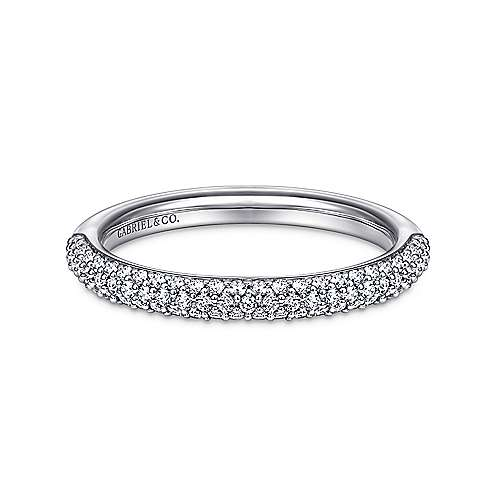 Gabriel - 14k White Gold Micro Pavé Band