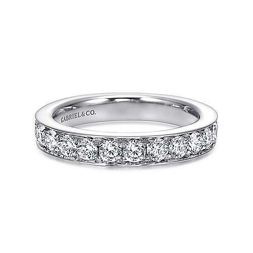 Gabriel - 14k White Gold Micro Pavé Channel Set Band