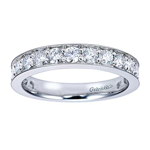 14k White Gold Micro Pavé Channel Set Band