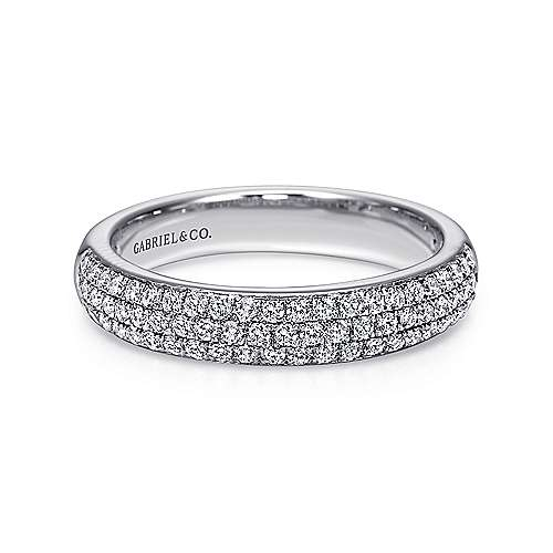 Gabriel - 14k White Gold Micro Pavé Diamond Band