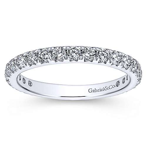 14k White Gold Micro Pavé Set Diamond Eternity Band