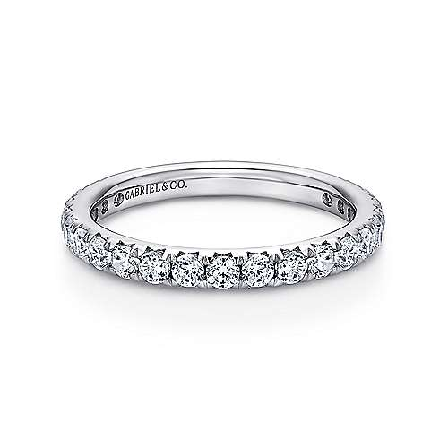 14k White Gold Micro Pavé Set Eternity Band