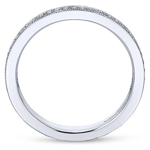 14k White Gold Midi Ladies' Ring angle 2