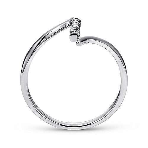 14k White Gold Midi Ladies' Ring angle 2