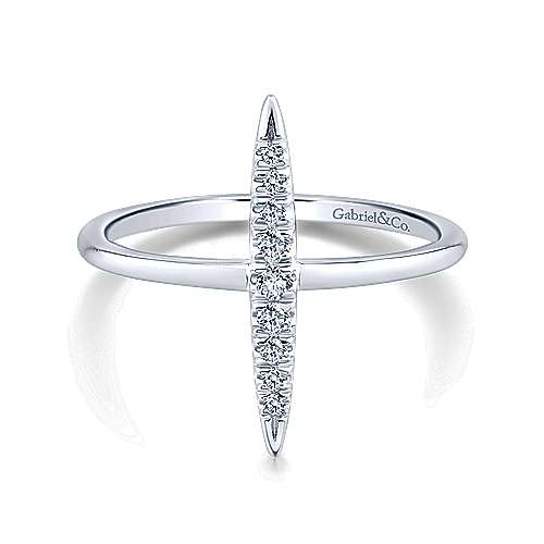 Gabriel - 14k White Gold Midi Ladies' Ring