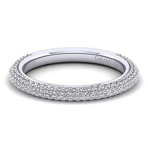 14k White Gold Pavé Anniversary Band