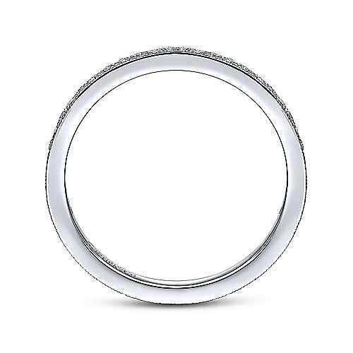 14k White Gold Pavé Diamond Eternity Stackable Ring