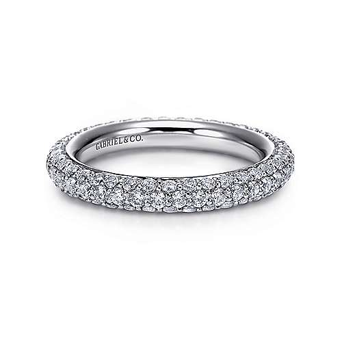 Gabriel - 14k White Gold Pavé Eternity Band