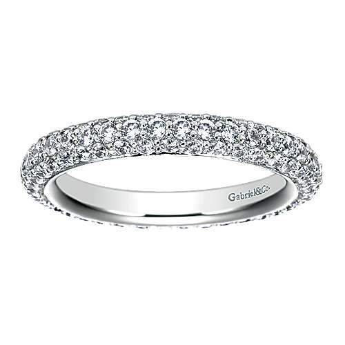 14k White Gold Pavé Eternity Band