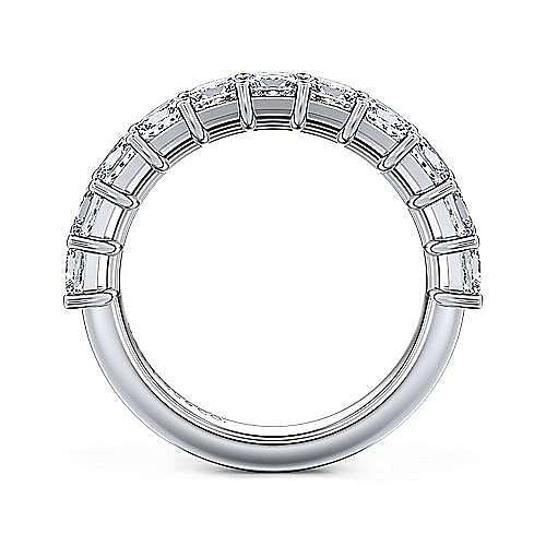 14k White Gold Princess Cut 13 Stone Shared Prong Set Anniversary Band