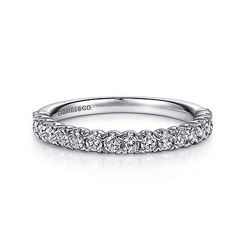 Gabriel - 14k White Gold Prong Set Band
