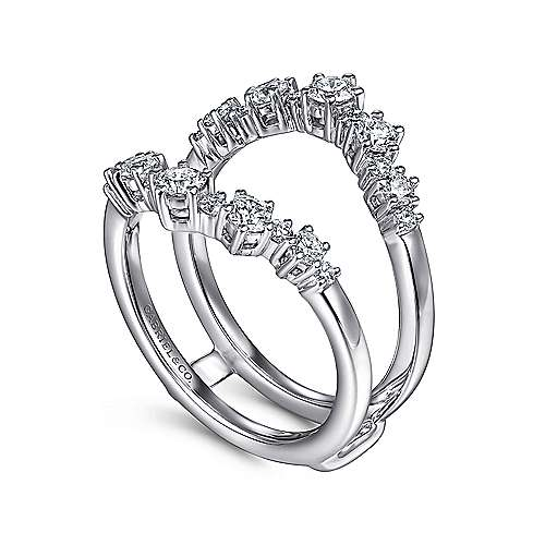 14k White Gold Prong Set Diamond Diamond Enhancer