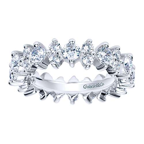 14k White Gold Prong Set Eternity Band