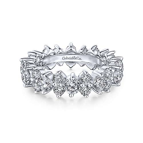 Gabriel - 14k White Gold Prong Set Eternity Band