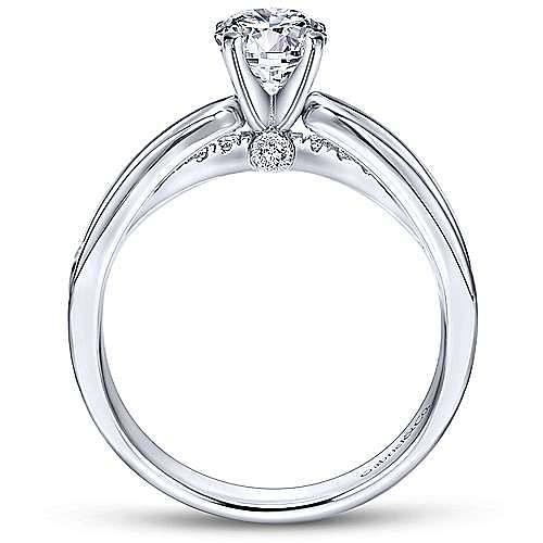 14k White Gold Round Split Shank Engagement Ring angle 2