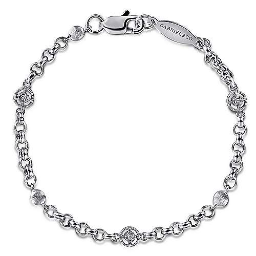 Gabriel - 14k White Gold Secret Garden Chain Bracelet