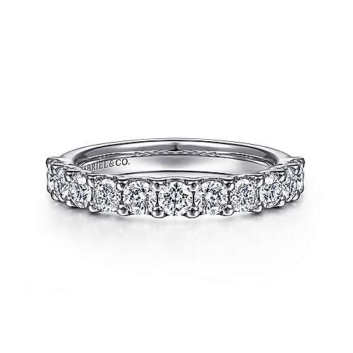 Gabriel - 14k White Gold Shared Prong Band
