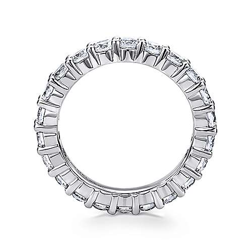 14k White Gold Shared Prong Eternity Band