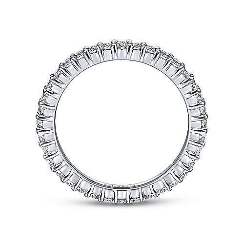 14k White Gold Shared Prong Set Diamond Eternity Band