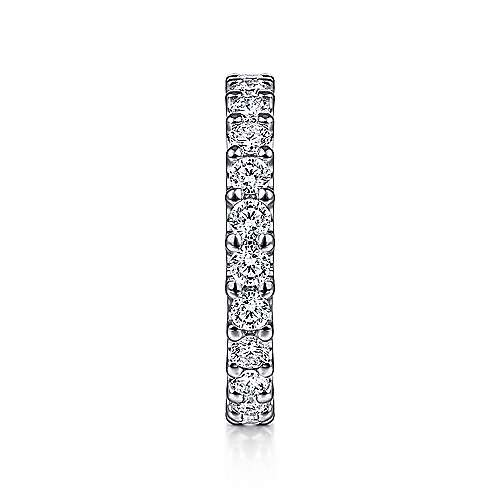 14k White Gold Shared Prong Set Diamond Eternity Band