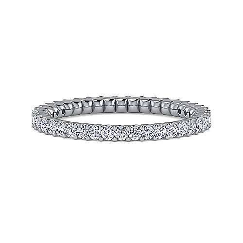 Gabriel - 14k White Gold Shared Prong Set Eternity Band