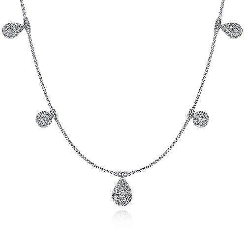 Gabriel - 14k White Gold Silk Choker Necklace