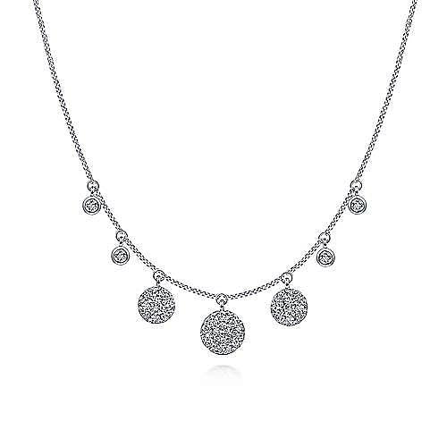 14k White Gold Silk Choker Necklace