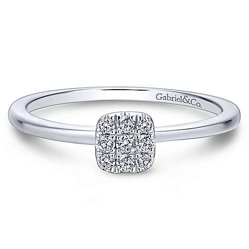 Gabriel - 14k White Gold Silk Classic Ladies Ring