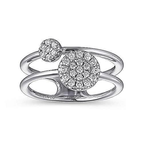 14k White Gold Silk Fashion Ladies' Ring angle 4