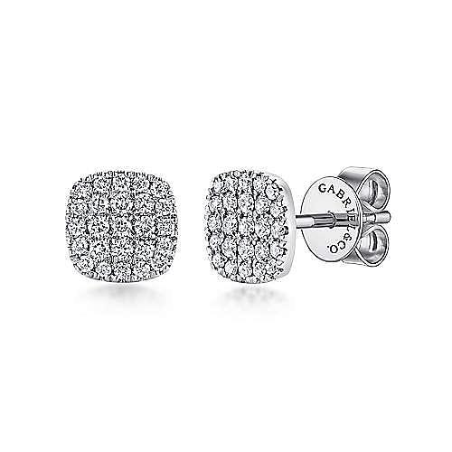 Gabriel - 14k White Gold Silk Stud Earrings