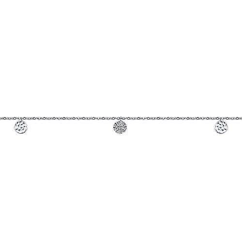 14k White Gold Souviens Chain Ankle Bracelet