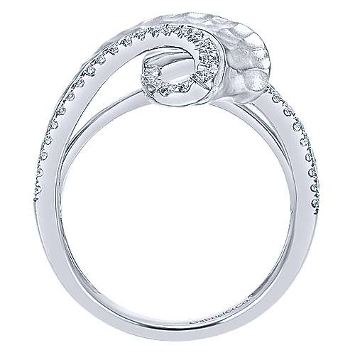 14k White Gold Souviens Fashion Ladies' Ring angle 2