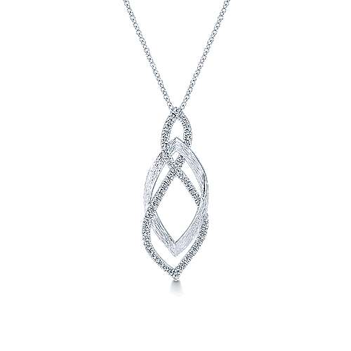 14k White Gold Souviens Fashion Necklace angle 1