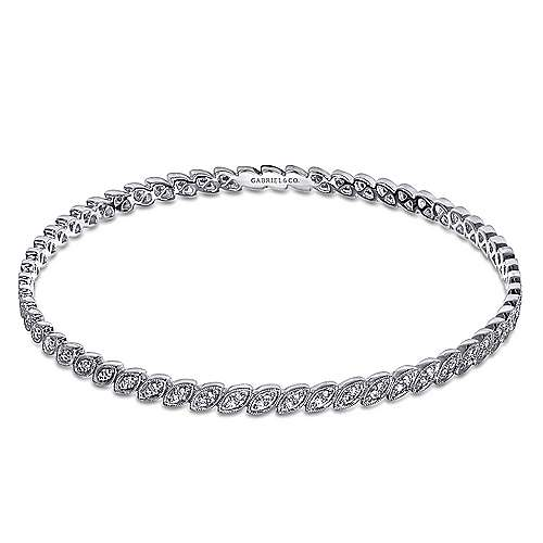 Gabriel - 14k White Gold Stackable Bangle