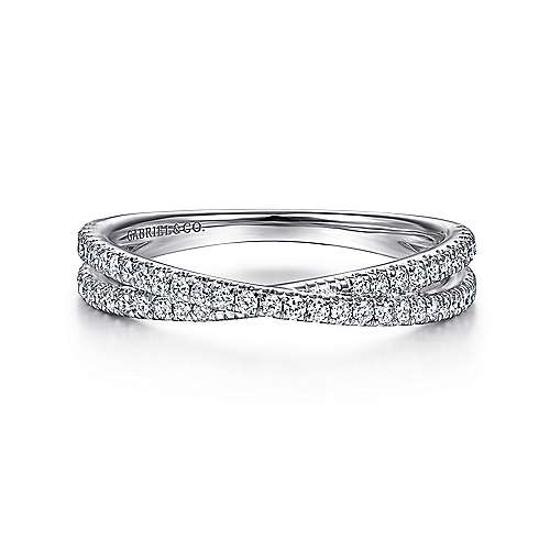 Gabriel - 14k White Gold Stackable Dual Band Ladies Ring
